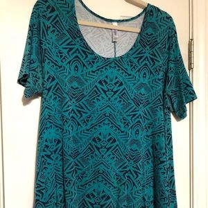 Lularoe teal perfect tee size xl